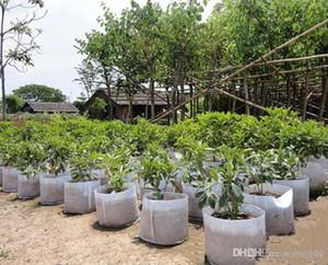 10 tailles Option non-tissé en tissu réutilisable Soft-Sided très respirant Cultivez sac pots de plantation Sac avec poignées grande fleur Planteur