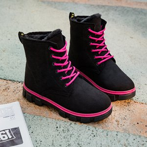 High Quality Brand 2019 New Women Winter Snow Boots Platform Warm Waterproof Female Winter Flat Boots Ankle Shoes