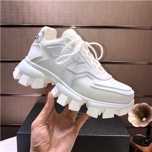 Prada shoes gratuit hococal noir hommes marque de luxe occasionnels chaussures confortables chaussures de sport mode chaussures papa dames en cuir verni maille s respirant