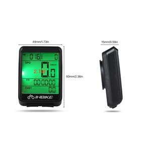 Wire Wireless Cycling Bike Computer Bicycle LED Speedometer Odometer Backlight LCD Screen Waterproof Tachometer