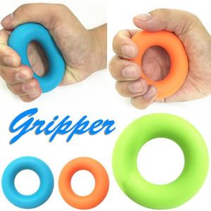 Silicona O agarrador de la mano de agarre anillo de la mano Venda de la resistencia dedo Camilla ejercicio de la muñeca del entrenamiento del antebrazo carpiano de la mano Expander
