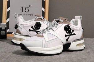 Los hombres de los zapatos casuales de alta calidad de los hombres del cráneo pp zapatos de cuero-1013 deportes de los hombres