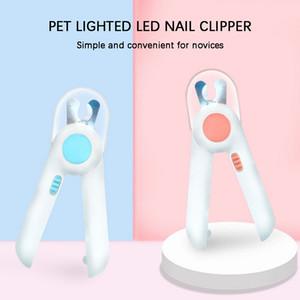 Pet Nail Clipper Dog Cat Cutter Beauté Ciseaux d'éclairage LED chiot chaton toilettage ongles griffe de coupe Machine professionnelle Newes