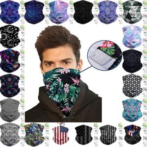 남성 여성 하프 페이스 마스크 B67F에 대한 필터 포켓 발라 클라 패션 넥 게이터 보호 머리띠와 DHL 배송 스카프 두건 얼굴 커버