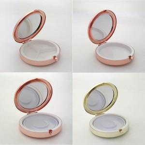 Portable pillola metallo rotonda Box Medicina Tablet capsula casella contenitore ciglio falso bagagli F3611 Viaggi