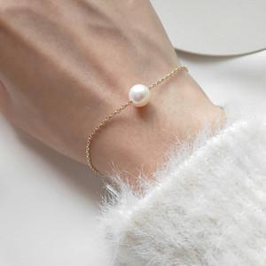 Браслет перлы пресной воды для женщин Девушек жемчужных украшений Летнего стиля 8-9мм White Pearl аксессуары Женщина браслет подарок