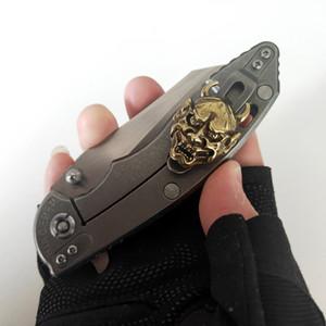 Limitada Personalização Versão Rick Hinderer faca dobrável XM-18 Handle Titanium M390 Lâmina Outdoor Camping Caça Ferramentas Boa Tactical EDC