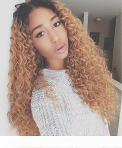 A 2018 Top Sale Curly Long Synthetic Hair Full Wig None Lace Wig Heat Resistant Fiber Brazilian hair Wigs For White And Black Women