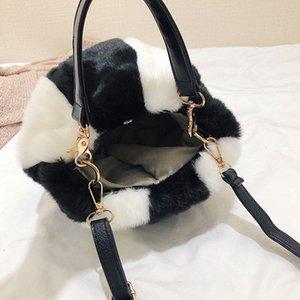 Небольшая волосатая женская мода ведро 2018 сумка мини-плечевые сумки плюшевые милые женщины дизайнер-xmessun бренд мех мягкий сцепление f91 vnfvm