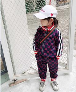 2020 luva Criança Hoodie longo calças de treino AutumnTwo conjuntos de peças FF Crianças Cotton Sweatsuit BEBÉ meninas roupa nova Outfit
