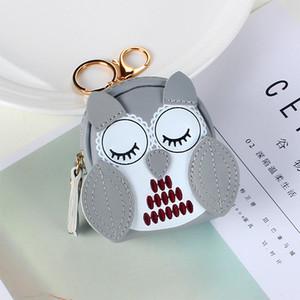 2019 Корейский Симпатичные Сова Портмоне Леди Мода мини монет сумка мультфильм творческой личности Малый кошелек