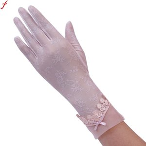 2017 Spring and Summer Women Vintage Sunscreen Sexy Lace Gloves UV-Proof Driving Gloves Female Guantes