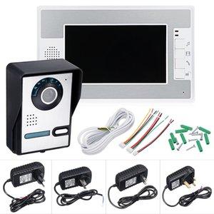 السلكية 7 بوصة لون الفيديو باب الهاتف الجرس إنترفون نظام الأمن مع 1 مراقب - AU