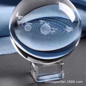 Objetos de decoração Bola de cristal Mobiliário decorativa artigos Cristal Laser 3D Sistema Solar aplicável a qualquer lugar