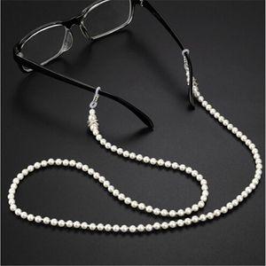 20PC mode perle blanche perles Sunglass chaîne Lunettes de lecture Lunettes chaîne Cord Holder corde pour homme femme