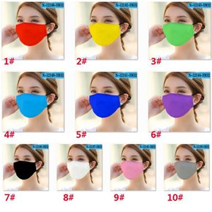Adult Washable Solid Color Cloth Mouth Mask PM2.5 Dustproof And Smog Face Mask Colorful Protective Mask For Women And Men EEA1563