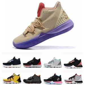 جديد kyrie 5 ep رجل كرة السلة أحذية kyries ايرفينغ 5 ثانية الأسود ماجيك ل chaussures دي سلة الكرة رجل المدربين رياضة zapatillas الحجم 46