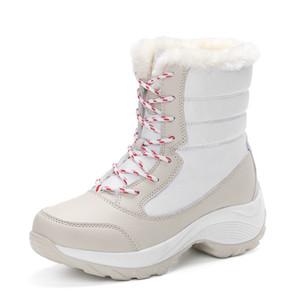 2017 neue Frauen Winter Wasserdichte Stiefel Warme Mode Winter Frau Schuhe Herbst Weibliche Dicke Schnür Stiefeletten Größe 35-41