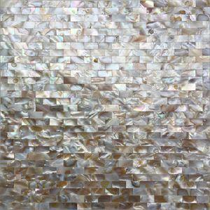 Madre perla perfecta de cocina de la baldosa pared posterior MOP19019 cáscara de ladrillo natural de baño azulejo de la pared de mosaico