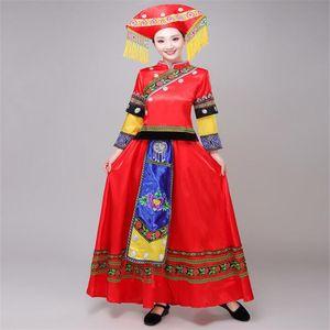 Femme adulte La Zang ou du Tibet Habillement Vêtements Mongolie minorités ethniques Accessoires Tibet Square Dance manches longues