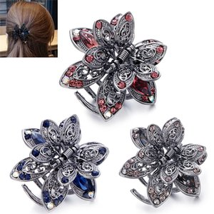 1Pcs Vintage Flower Crystal Hair Clip Rhinestone Hairpin Hair Jewelry Charm Accessories For Women Accessories