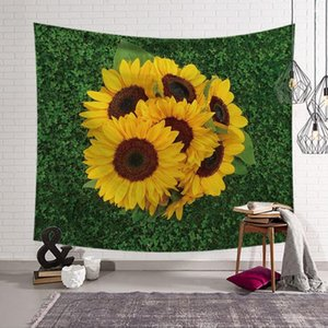Sonnenblume 3D Druck Tapisserie Mode Kind Erwachsene Strandtuch Haushalt Kunst Fit Wand Tapisserei Decke Home Decor 13 Arten LXL486-A