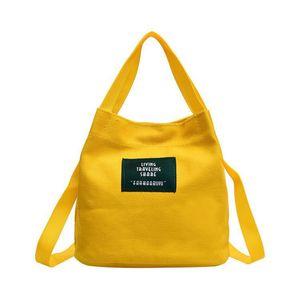 pg107 Canvas Handbags Coloured Original Canvas Handbag Lady Straddle Handbag Korean Style small Refreshing Handbag Cross Body Bags