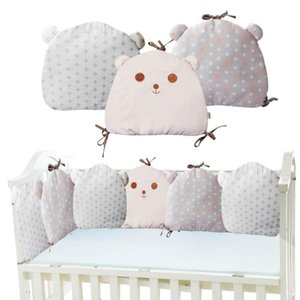 Baby Playpens Bedding Creative Pillow Embroidery Print Cotton Bear Cushion Crib Wai Kids Car Seat Breathable Pad Baby