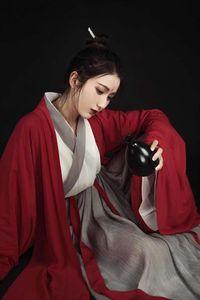 Traje de época Folk Dance Mujeres Hanfu chino elegante traje de Hanfu Mejora de la dinastía Han Espadachín cosplay traje traje