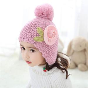 2019 nouveaux chapeaux princesse filles chapeau chapeaux de créateurs d'hiver d'enfants fleur chapeaux bébé design doux pour enfants bébé Cap enfants Cap 0-10year vieux