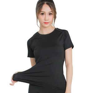 Femmes Yoga Chemises sport Compression rapide manches courtes à sec Chemises exercice Workout Fitness Course Hauts Sweat shirt manches courtes élastique