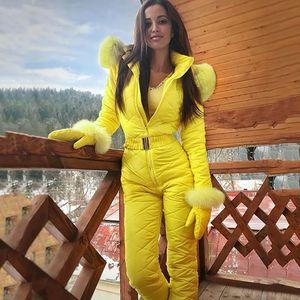 Chaqueta de invierno 2019 mujeres ocasionales de la manera caliente de espesor Snowboard Skisuit deportes al aire libre de la cremallera de esquí Traje Casacos De Inverno Femenino