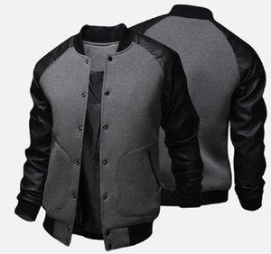 ZOGAA 2020 Причинная Matching искусственной кожи мужские куртки O-образным вырезом мужские пальто и куртки однобортный пиджак мужчин кожа