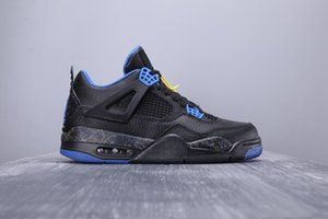 2020 New Arrival Jumpman 4 IV Black Blue Fashion Casual Basketball Shoes Mens High Quality 4S Designer Sports Sneakers Size 36-45