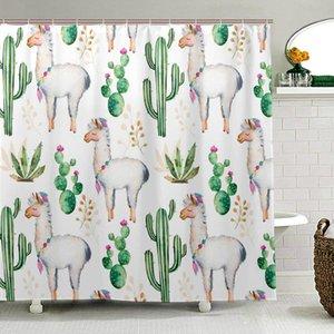 사막 선인장 낙타 동물 샤워 커튼 폴리 에스터 직물 목욕 커튼 욕실에 대 한 Multi-size 인쇄 화장실 커튼
