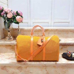 2020 Viagem Old Flower Bags Mens Fashion Keepall Gym Sports Bag Couro Compras Weekend Bag bagagem Tote Vintage Bolsa de Ombro Para Mulheres