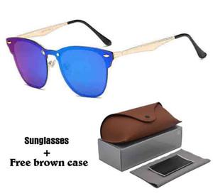 Новый Arrial алюминиевый магния солнцезащитные очки Женщины мужчины Марка дизайнер UV400 объектив ретро старинные спортивные солнцезащитные очки Очки с бесплатные чехлы и коробки