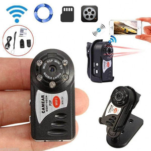 Q7 مصغرة واي فاي DVR كاميرا IP لاسلكية مسجل فيديو Q7 كاميرا الأشعة تحت الحمراء للرؤية الليلية كاميرا كشف الحركة المدمج في ميكروفون