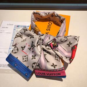2019 neue ms zweilagige Seidenband 1164 Europa und die Vereinigten Staaten verkaufen hochwertiger modischen Joker Schal, Haarband, Handtaschen Zube