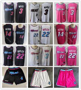 Men Youth Basketball Dwyane 3 Wade Mens College Jerseys Jimmy 22 Butler 14 Tyler Herro Goran Kendrick 25 Nunn 7 Dragic Red Kids Jerseys