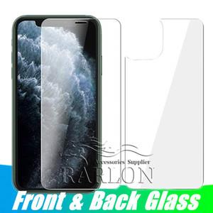 Avant et arrière arrière en verre trempé ultra-mince anti-rayures Protection d'écran Protection totale du corps pour iPhone 11 Pro Max XS Max X 8 7 plus