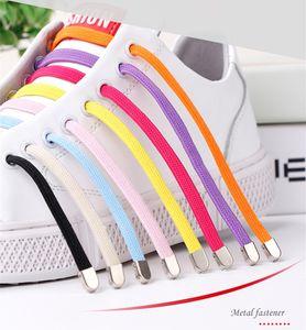 Shoe elásticos 100 cm colorida Laços convenientes Buckle coloridos Laces sapatos Elastic No tie Silicone Cordão preguiçoso por Sneaker