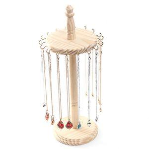 [DDisplay] Creative Display bricolage Collier en bois Organisateur en bois massif Pendentif Nature affichage Bijoux Porte boucle d'oreille Hookers stockage des bijoux