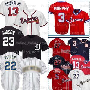 13 Ronald Acuna Jr. Jersey 27 Austin Riley Dale Murphy Freddie Freeman Chipper Jones 23 Kirk Gibson Miguel Cabrera Christian Yelich Baseball