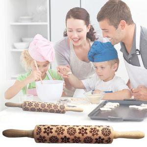 Natale goffratura Mattarello cookie di cottura Noodle biscotto del fondente pasta della torta inciso Roller Reindeer Snowflake 8 Style scegliere