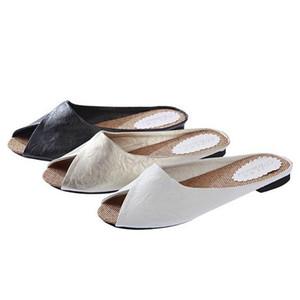 flip flops in women's slippers Women's Summer Sandals Shoes Peep-toe Low Shoes Roman Sandals Ladies Flip Flops Slippers 0507#30