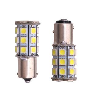 10X12V auto del LED freno dell'automobile della lampadina 1156 Ba15s P21W 27SMD 27 SMD 5050 Attivare backup della parte finale del segnale della luce rossa Bianco auto styling