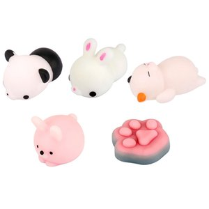 Universal Cute Mini Cat Rabbit Panda Squeeze Squishy Toy Phone Charms DIY Accessories For All Smartphone Ultra Soft TPR Squeeze