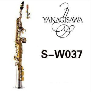 YANAGISAWA W037 B (B) Soprano dritto tubo Sassofono Ottone argento placcato oro Corpo lacca chiave B Flat Sax Caso Bocchino Con