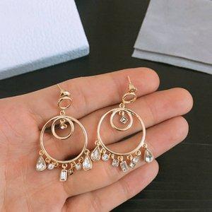 luxury crystal geometry earrings drop earring jewelry fashion manufacturer wholesale earrings jewelry high quality earrings free shipping